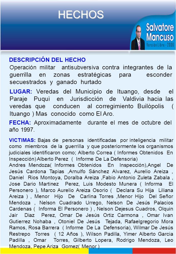 FECHA: Aproximadamente durante el mes de octubre del año 1997.