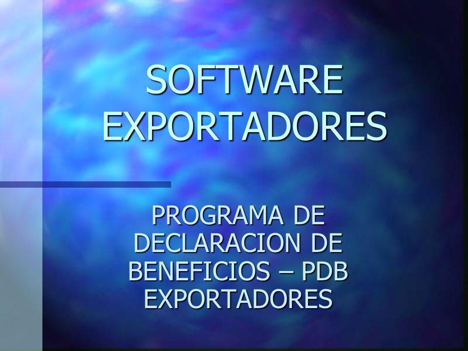 SOFTWARE EXPORTADORES