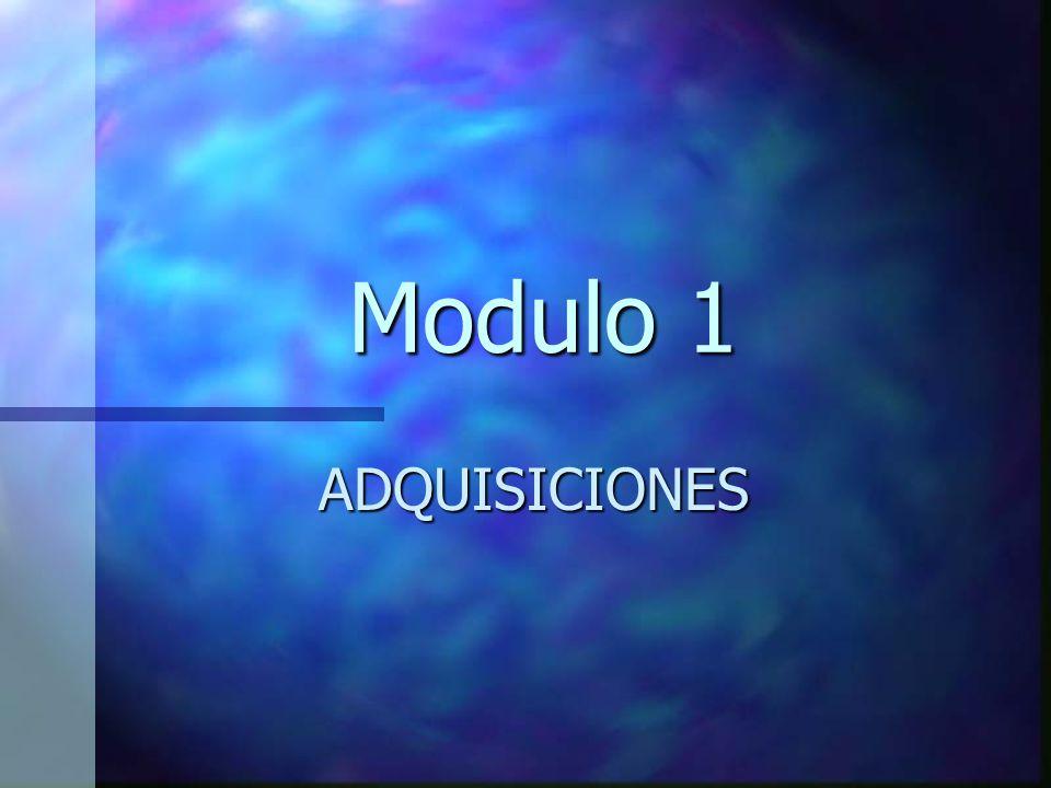 Modulo 1 ADQUISICIONES