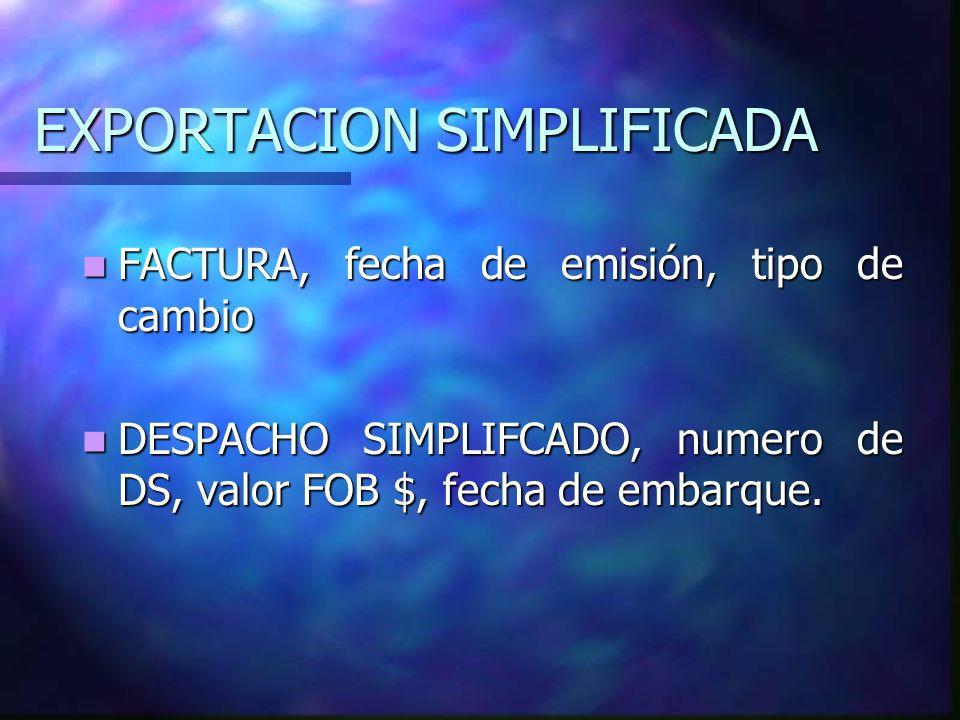 EXPORTACION SIMPLIFICADA