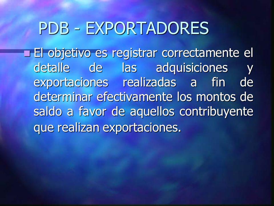 PDB - EXPORTADORES