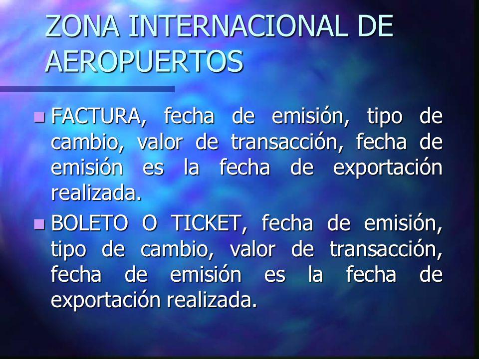 ZONA INTERNACIONAL DE AEROPUERTOS