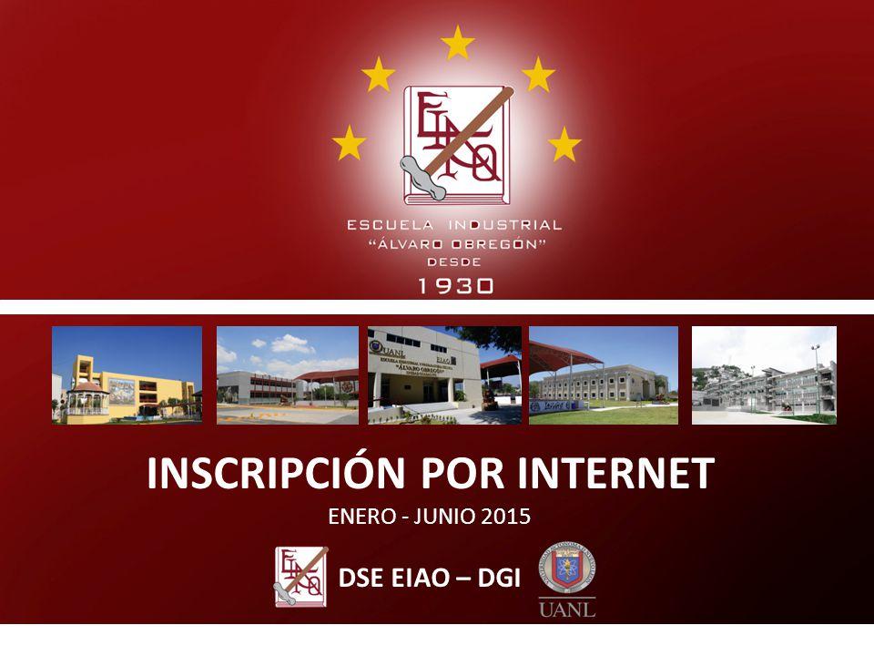 INSCRIPCIÓN POR INTERNET