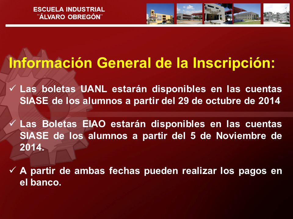 Información General de la Inscripción:
