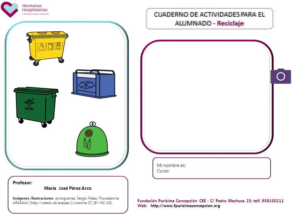 CUADERNO DE ACTIVIDADES PARA EL ALUMNADO - Reciclaje