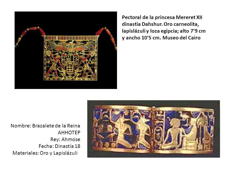 Pectoral de la princesa Mereret XII dinastia Dahshur