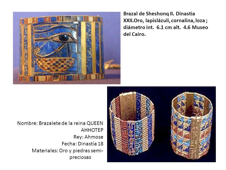 Brazal de Sheshonq II. Dinastia XXII