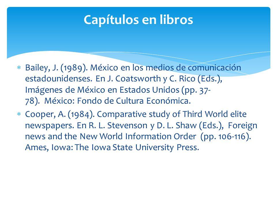 Capítulos en libros