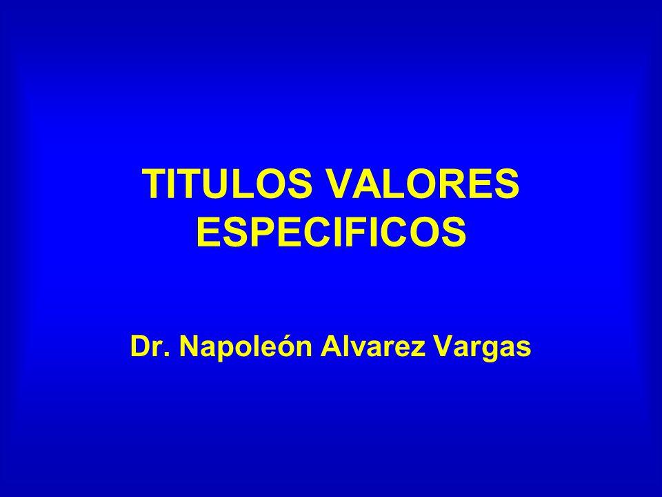 TITULOS VALORES ESPECIFICOS