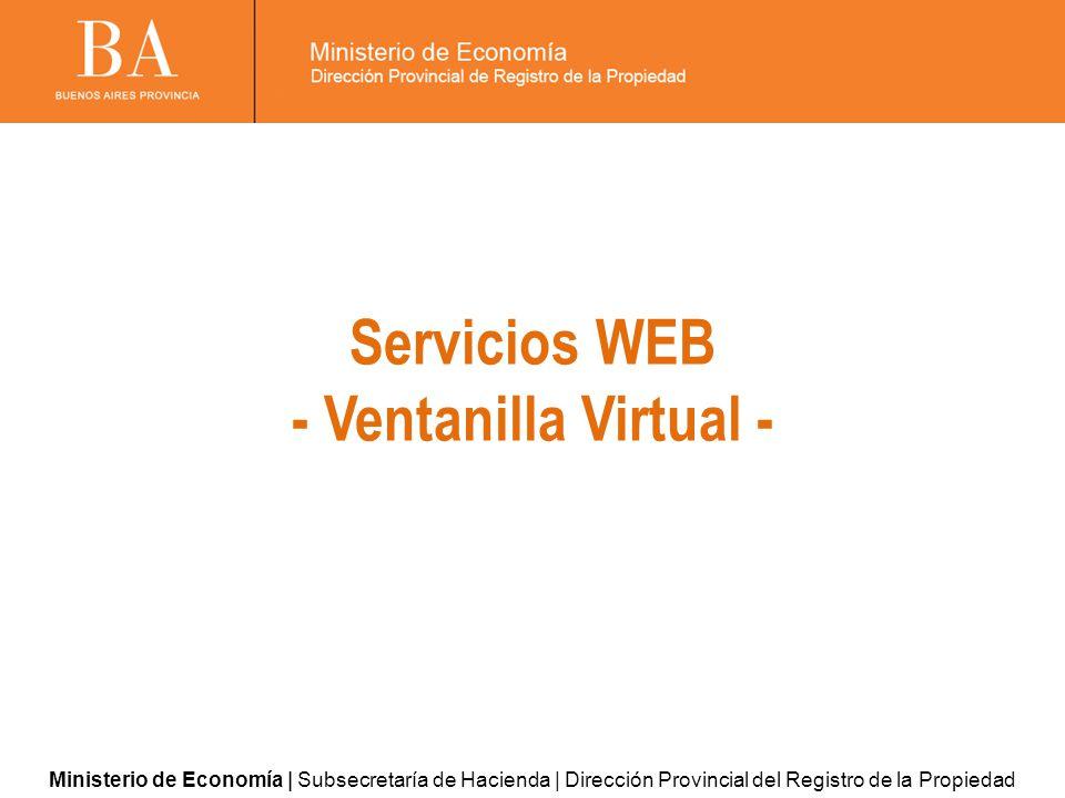 Servicios WEB - Ventanilla Virtual -