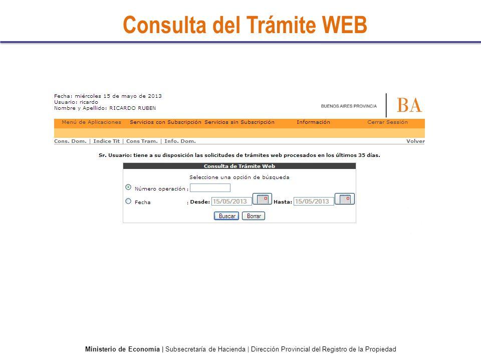 Consulta del Trámite WEB