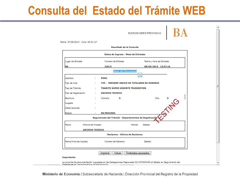 Consulta del Estado del Trámite WEB