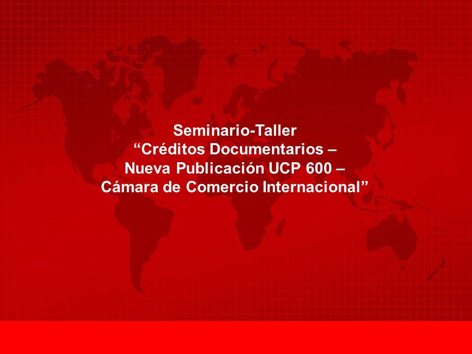 Créditos Documentarios – Nueva Publicación UCP 600 –