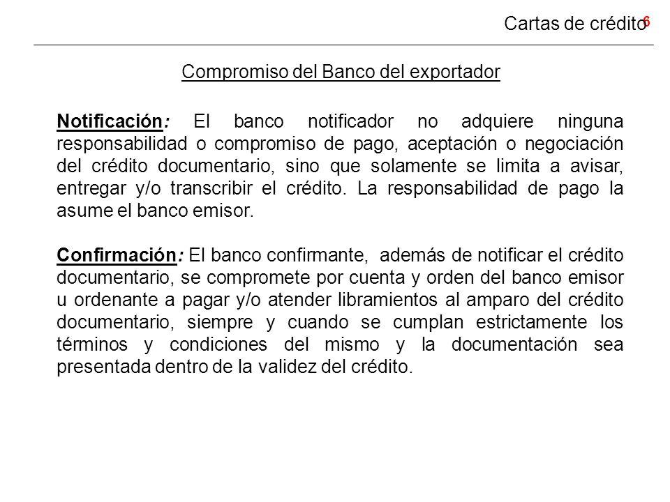 Compromiso del Banco del exportador
