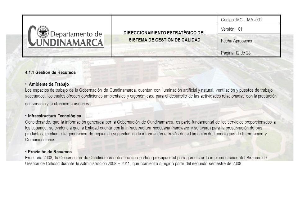 DIRECCIONAMIENTO ESTRATÉGICO DEL SISTEMA DE GESTIÓN DE CALIDAD