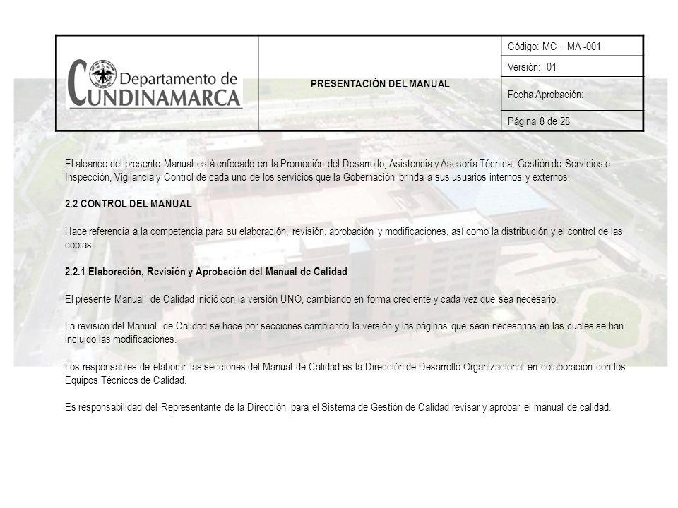 PRESENTACIÓN DEL MANUAL