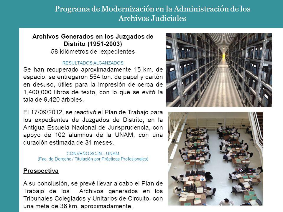 Programa de Modernización en la Administración de los Archivos Judiciales