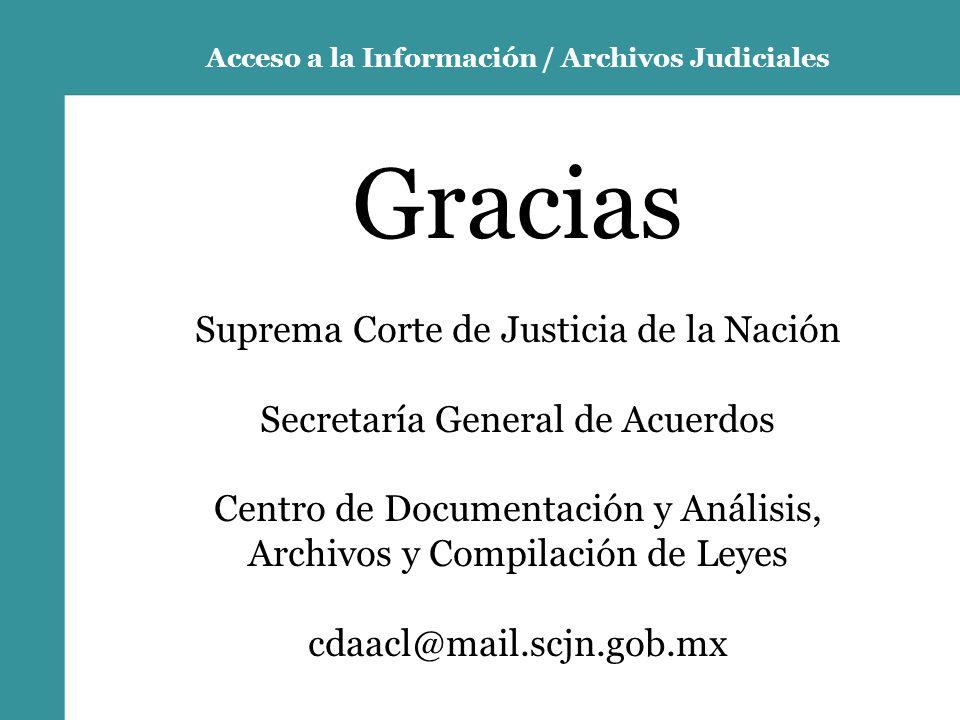 Acceso a la Información / Archivos Judiciales