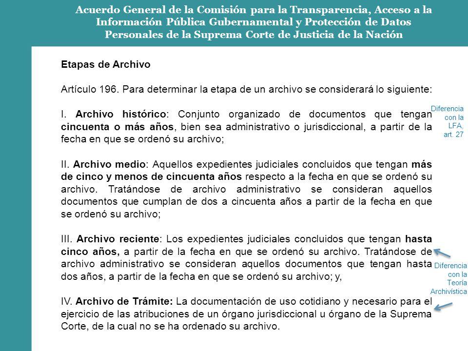 Acuerdo General de la Comisión para la Transparencia, Acceso a la Información Pública Gubernamental y Protección de Datos Personales de la Suprema Corte de Justicia de la Nación