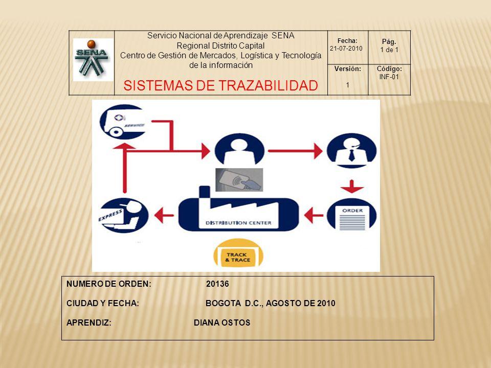 SISTEMAS DE TRAZABILIDAD