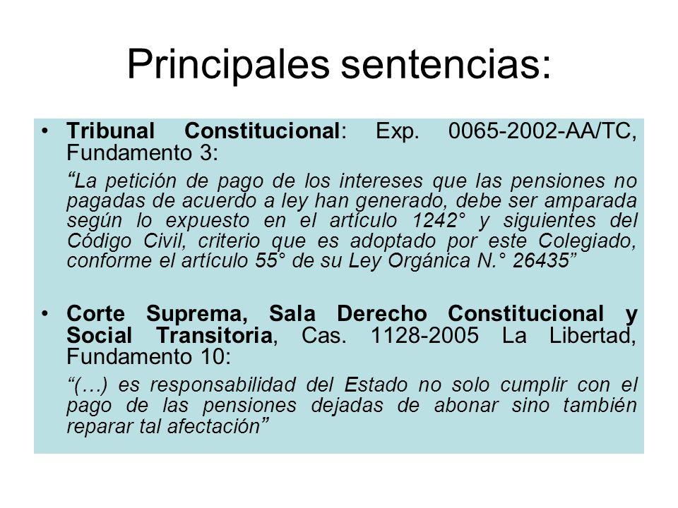 Principales sentencias: