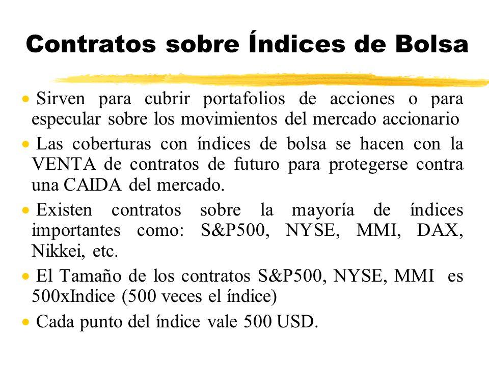Contratos sobre Índices de Bolsa