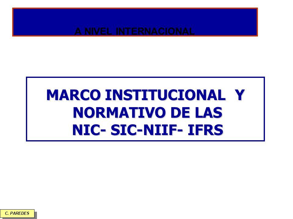 MARCO INSTITUCIONAL Y NORMATIVO DE LAS NIC- SIC-NIIF- IFRS