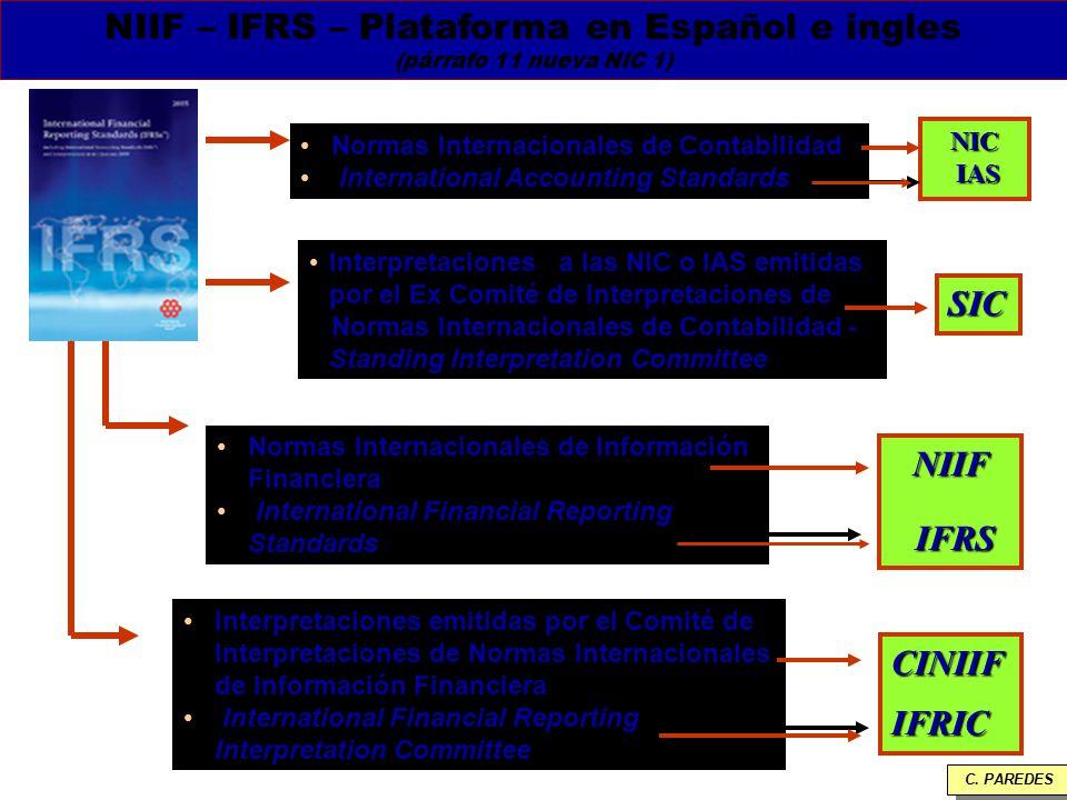 NIIF – IFRS – Plataforma en Español e ingles