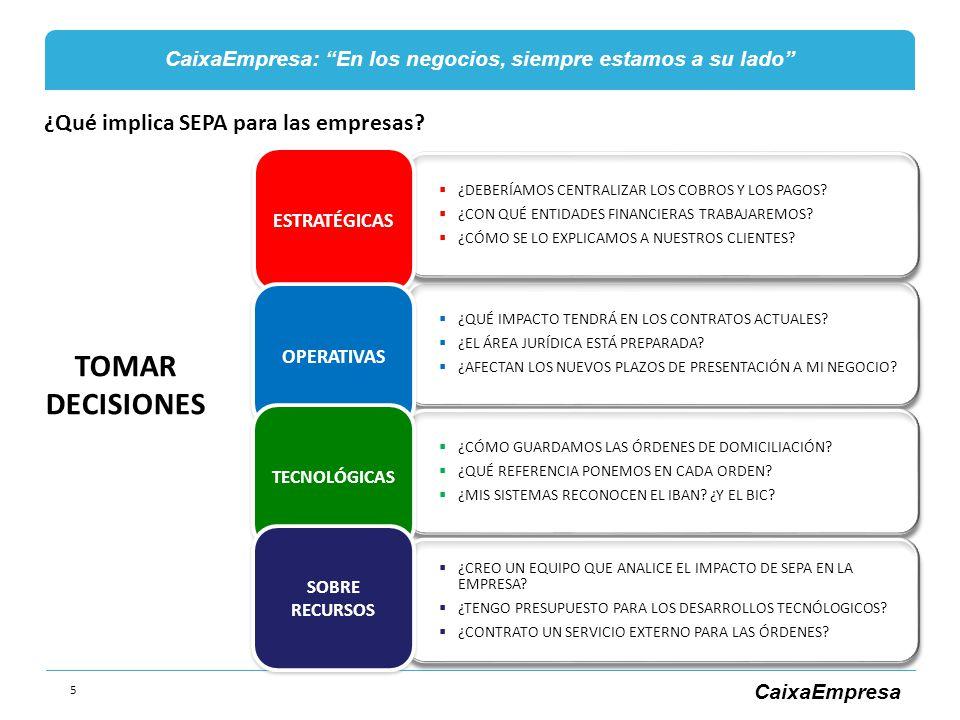 TOMAR DECISIONES ¿Qué implica SEPA para las empresas ESTRATÉGICAS