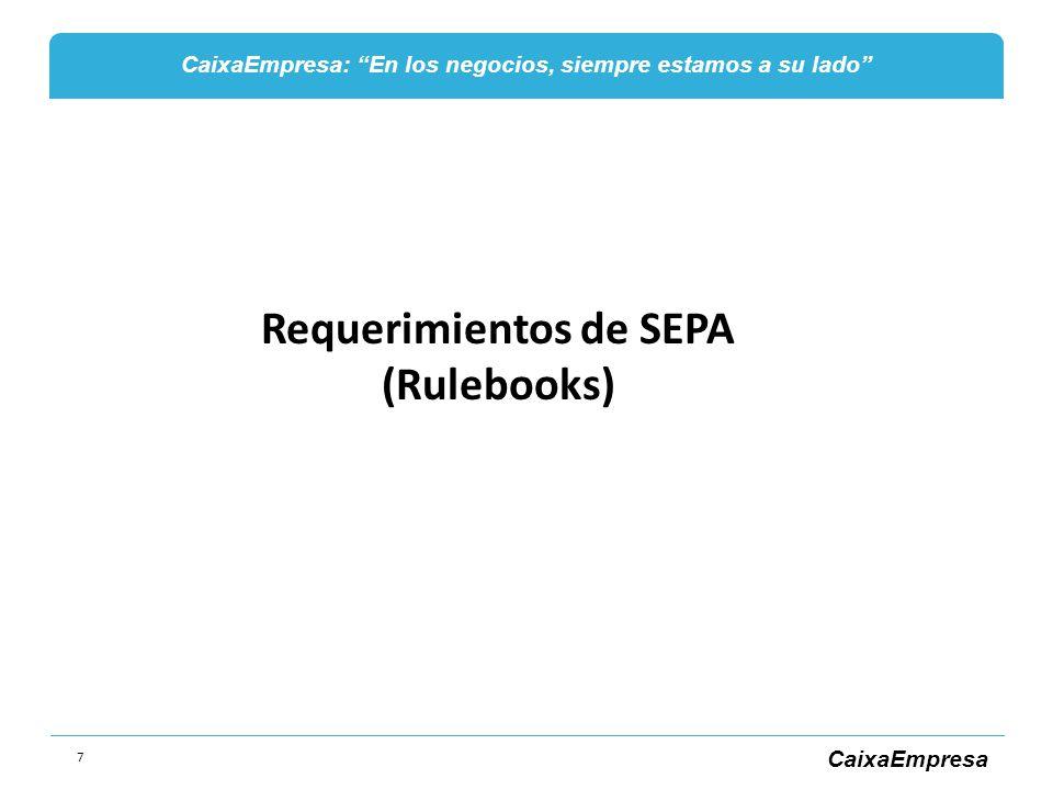 Requerimientos de SEPA