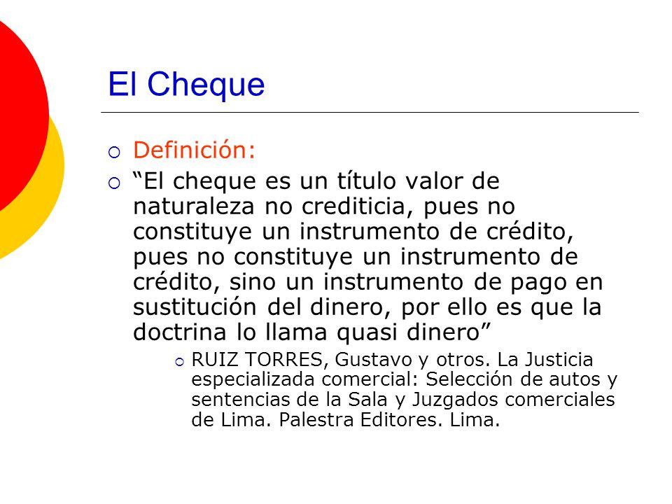 El Cheque Definición: