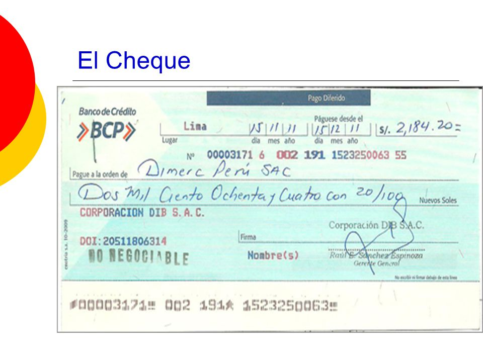 El Cheque