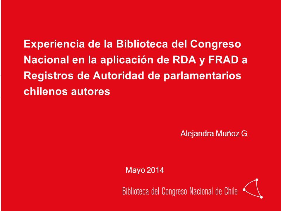 Alejandra Muñoz G. Experiencia de la Biblioteca del Congreso