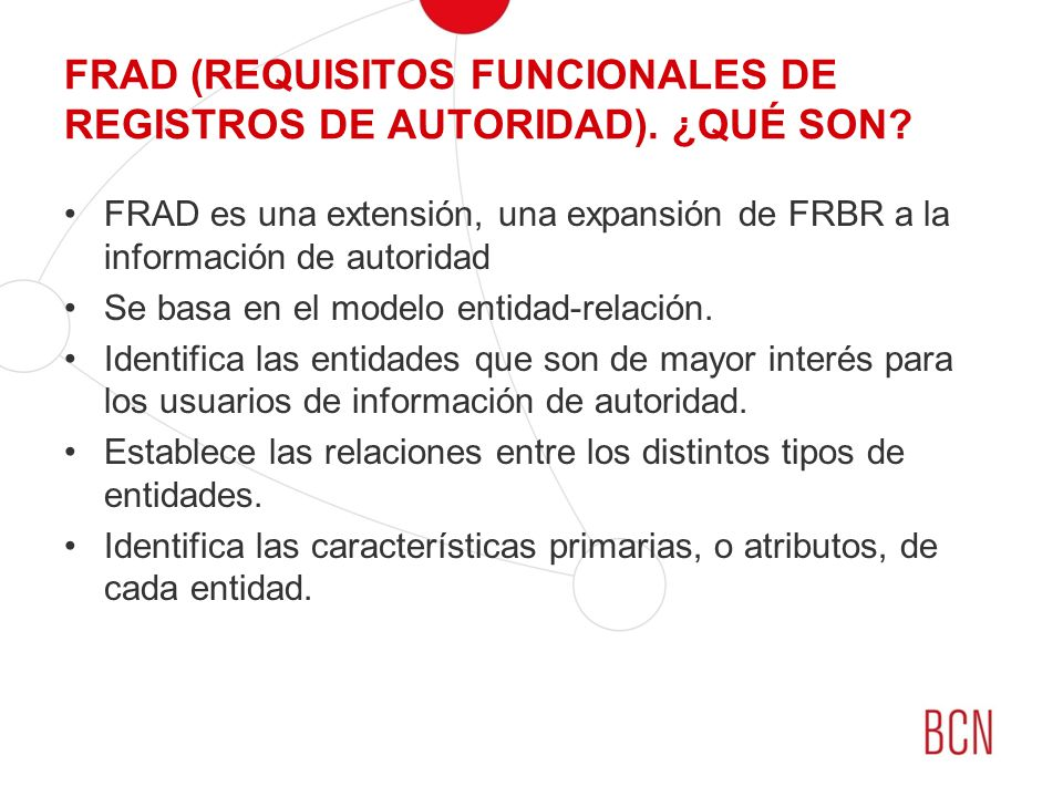 FRAD (REQUISITOS FUNCIONALES DE REGISTROS DE AUTORIDAD). ¿QUÉ SON