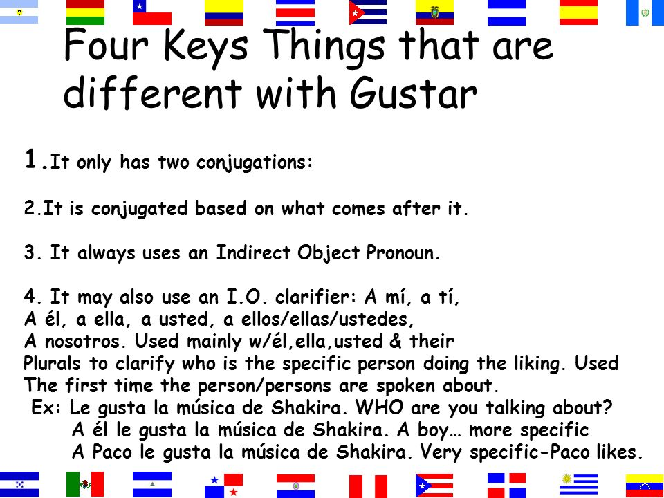 Four Keys Things that are different with Gustar