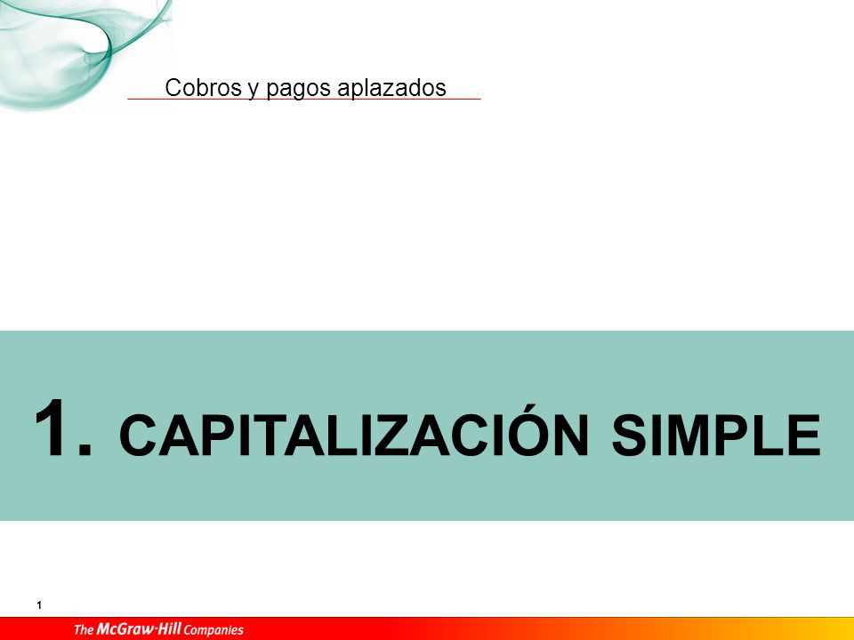 Capitalización simple – Notación