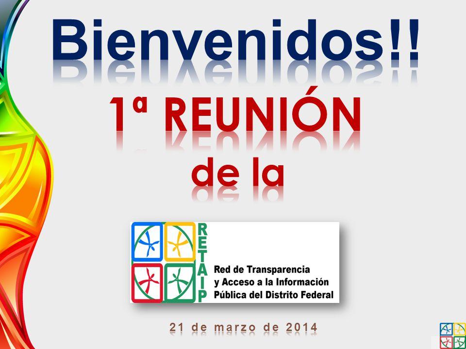 Bienvenidos!! 1ª REUNIÓN de la 21 de marzo de 2014