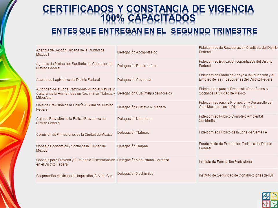CERTIFICADOS Y CONSTANCIA DE VIGENCIA 100% CAPACITADOS