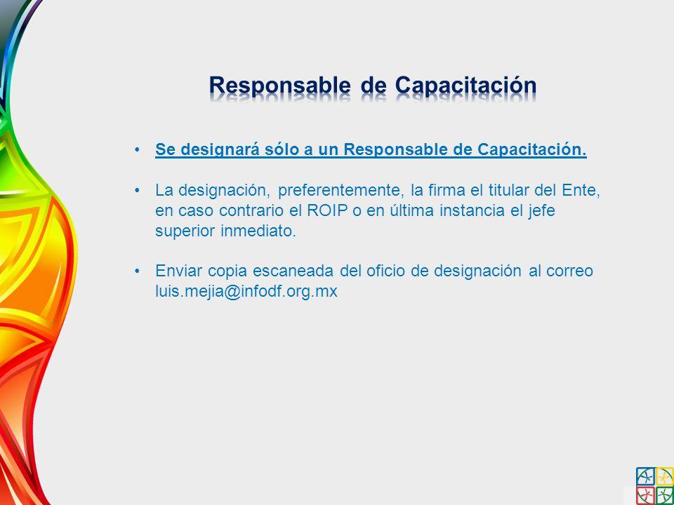 Responsable de Capacitación
