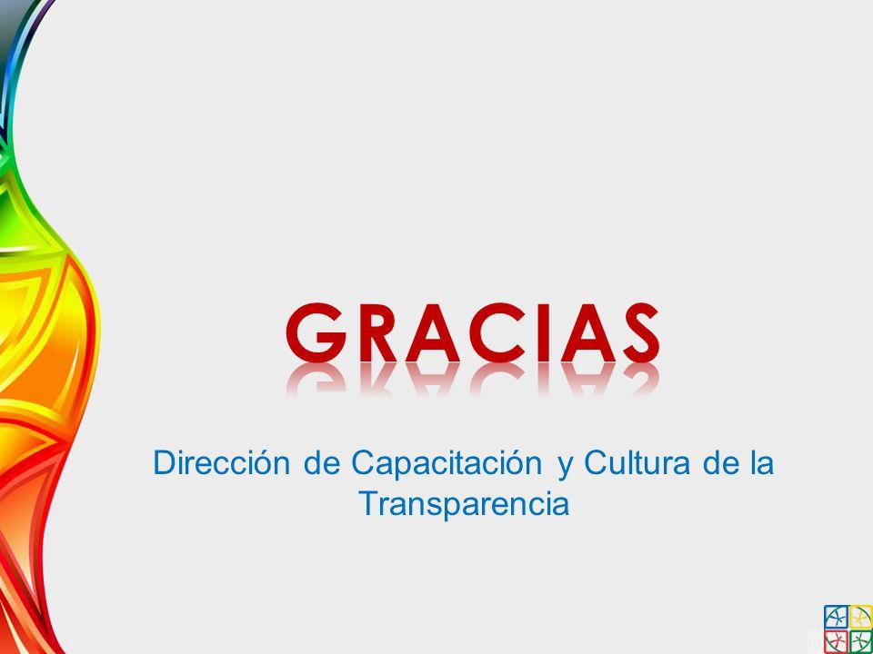 Dirección de Capacitación y Cultura de la Transparencia
