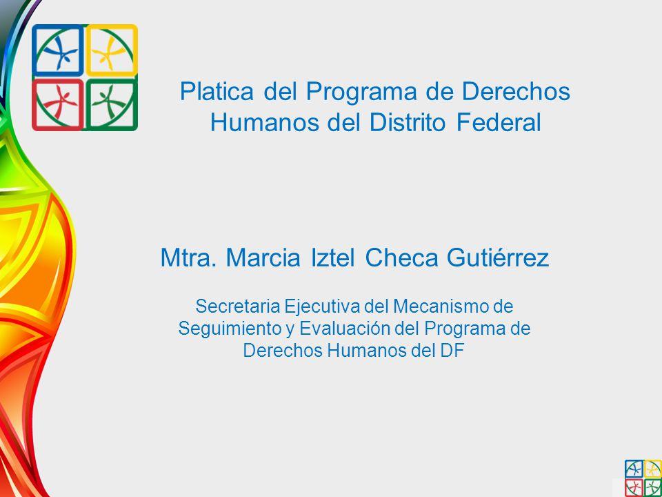 Platica del Programa de Derechos Humanos del Distrito Federal