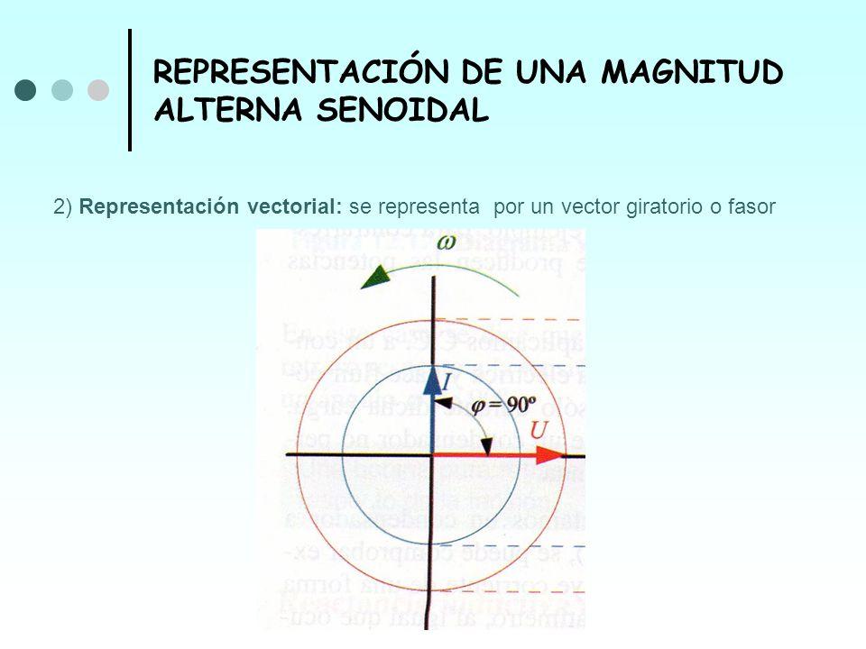 REPRESENTACIÓN DE UNA MAGNITUD ALTERNA SENOIDAL