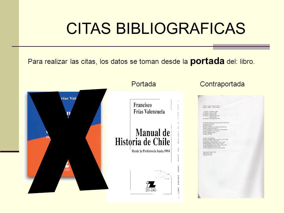 x CITAS BIBLIOGRAFICAS