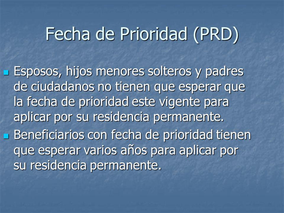 Fecha de Prioridad (PRD)