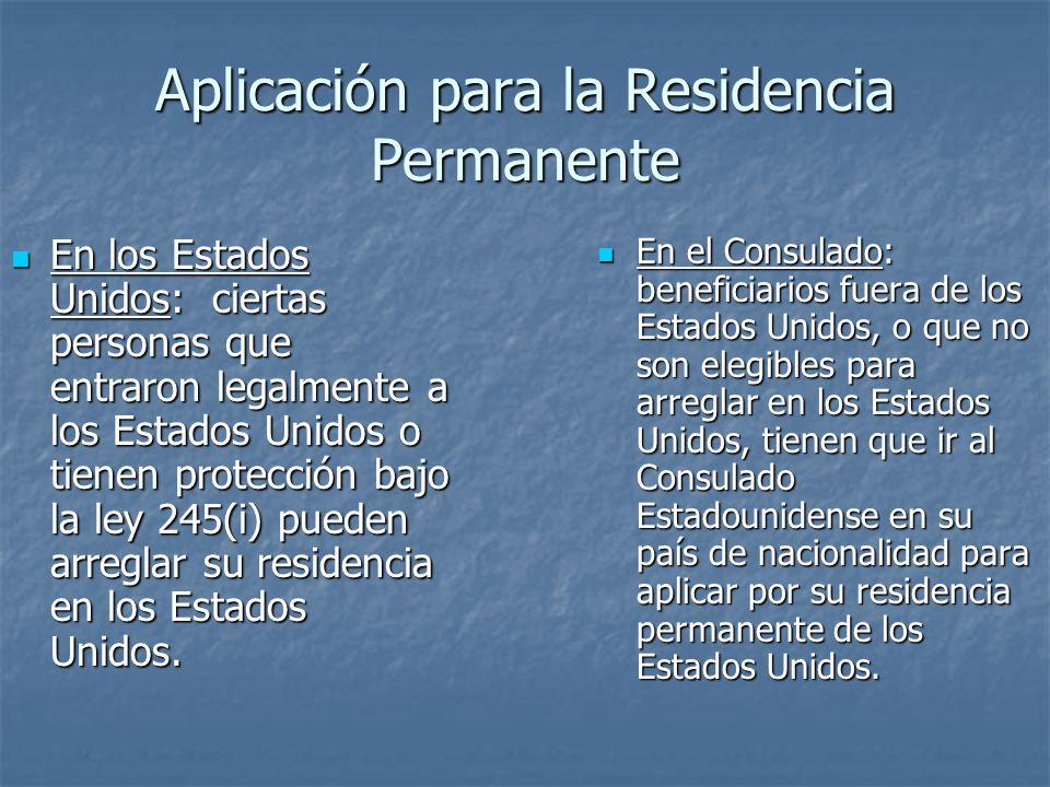 Aplicación para la Residencia Permanente