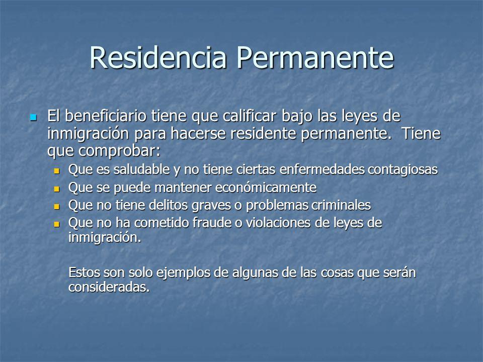 Residencia Permanente