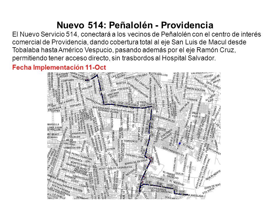 Nuevo 514: Peñalolén - Providencia