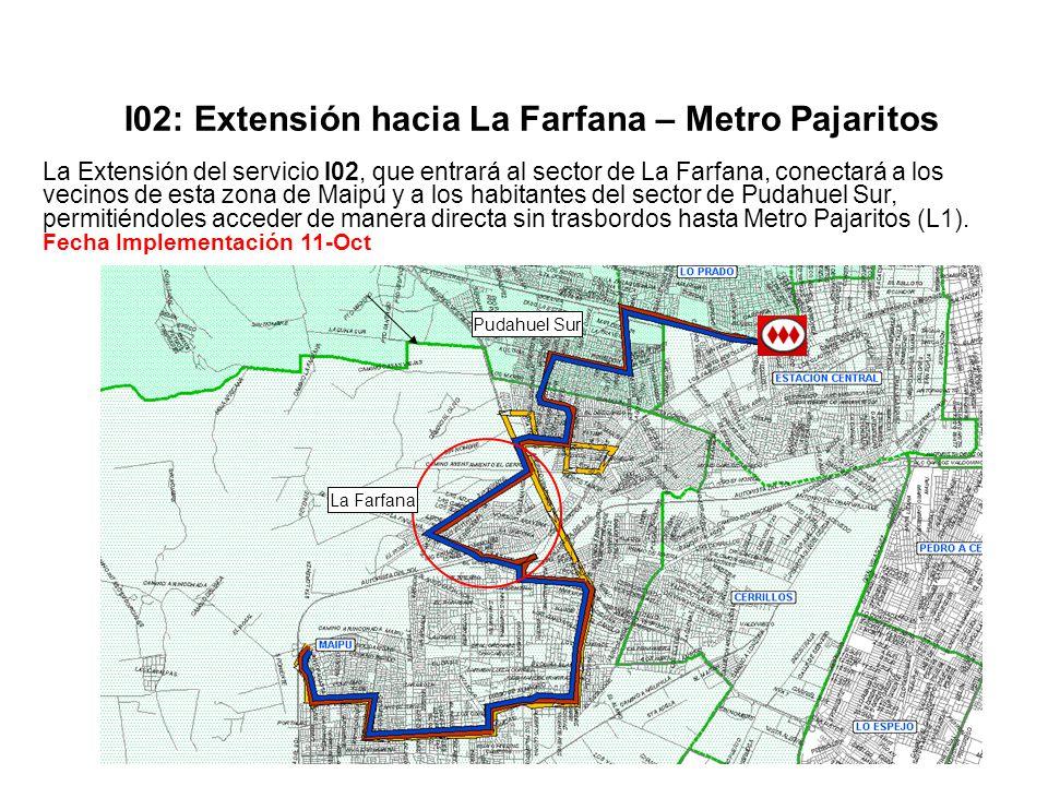 I02: Extensión hacia La Farfana – Metro Pajaritos