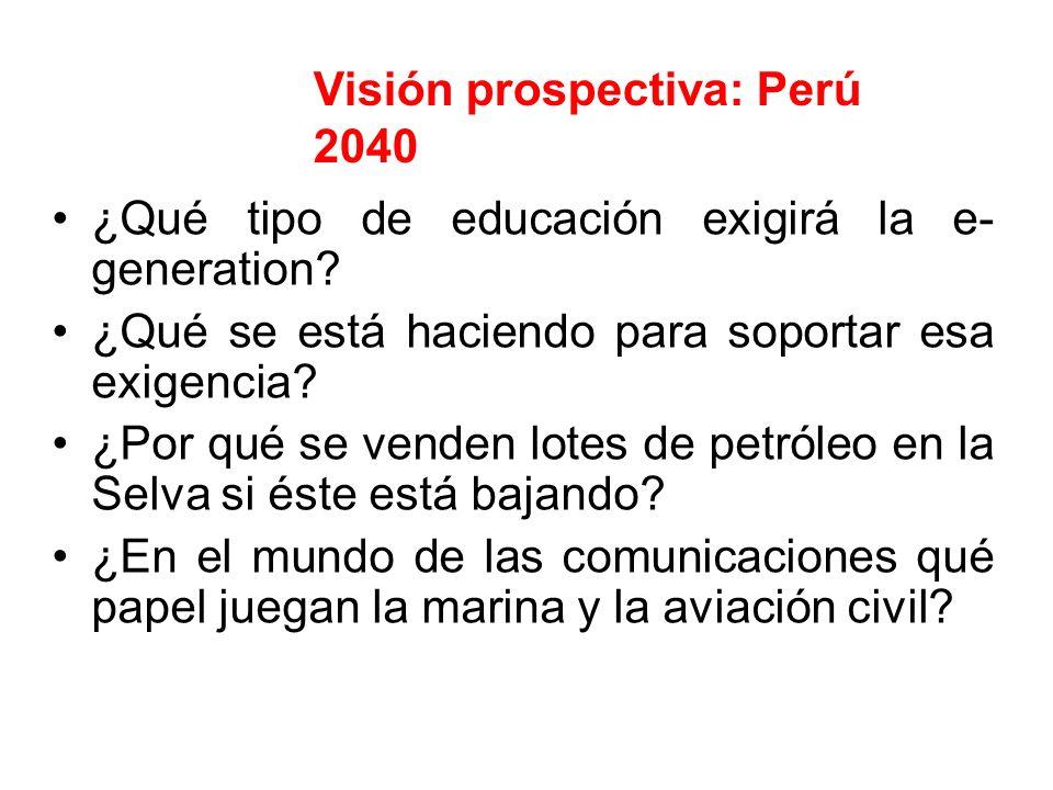 Visión prospectiva: Perú 2040