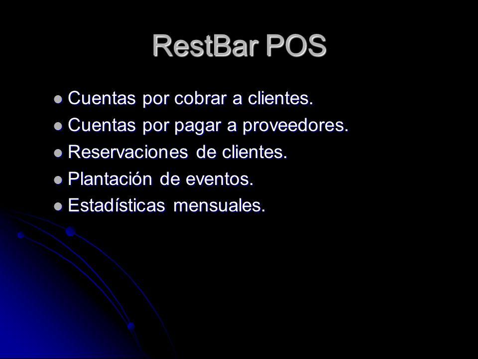 RestBar POS Cuentas por cobrar a clientes.